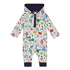 bluezoo - Baby boys' multi-coloured robot print romper