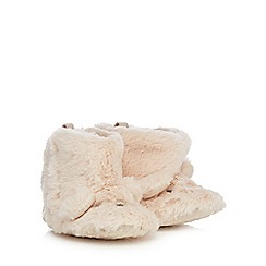 bluezoo - Baby light brown faux fur booties