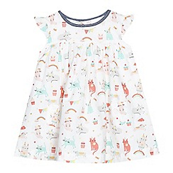 bluezoo - Baby girls' white animal print dress