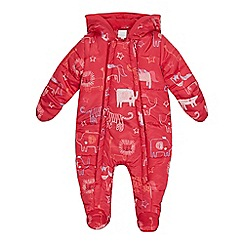bluezoo - Baby girls' pink animal print snowsuit