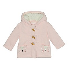 bluezoo - Baby girls' pink fleece coat