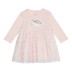 bluezoo - Baby girls' pink unicorn dress