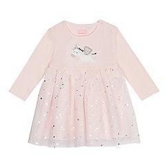 bluezoo - Baby girls' pink unicorn dress