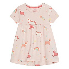 bluezoo - Baby girls' pink unicorn print top