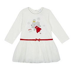 bluezoo - Baby girls' white Christmas mouse fairy tutu dress
