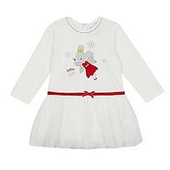 bluezoo - Baby girls' white Christmas mouse fairy tutu dress