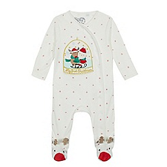 bluezoo - Babies' white 'My First Christmas' applique sleepsuit