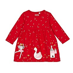 bluezoo - Baby girls' red ballerina applique dress