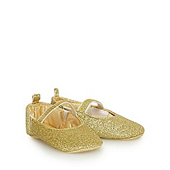 bluezoo - Baby girls' gold glitter pumps