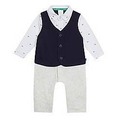 J by Jasper Conran - Baby boys' navy romper suit