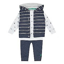 J by Jasper Conran - Baby boys' navy gilet top and trousers set