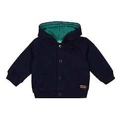 J by Jasper Conran - Baby boys' navy quilted jacket