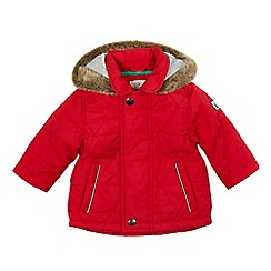 J by Jasper Conran - Baby boys' red quilted jacket
