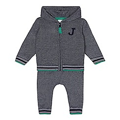 J by Jasper Conran - Baby boys' grey knitted hoodie and bottoms set