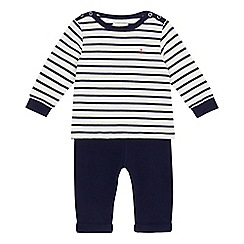 J by Jasper Conran - Baby boys' navy striped print top and bottoms set