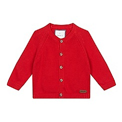 J by Jasper Conran - Baby boys' red crew neck cardigan