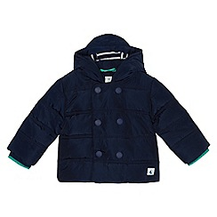J by Jasper Conran - Baby girls' navy double breasted padded jacket