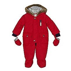 J by Jasper Conran - Baby boys' red padded snowsuit
