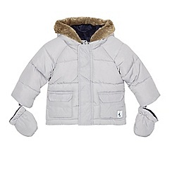 J by Jasper Conran - Babies' grey padded coat with mittens