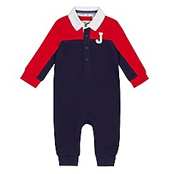 J by Jasper Conran - Baby boys' red colour-block romper