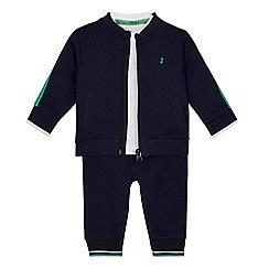 J by Jasper Conran - Baby boys' navy jacket and white t-shirt set