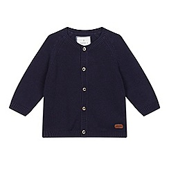 J by Jasper Conran - Baby girls' navy crew neck cardigan