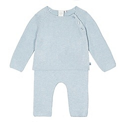 J by Jasper Conran - Baby boys' light blue knitted top and bottoms set