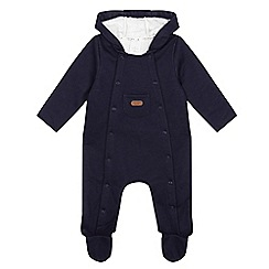 J by Jasper Conran - Baby boys' navy fleece lined all-in-one