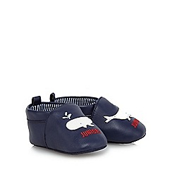 J by Jasper Conran - Baby girl's navy leather booties