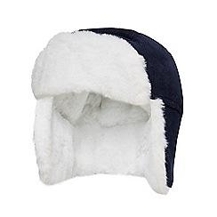 J by Jasper Conran - Baby boys' navy corduroy trapper hat