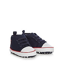J by Jasper Conran - Baby boys' navy canvas trainers
