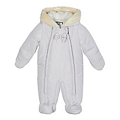 J by Jasper Conran - Baby girls' light pink padded snowsuit