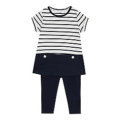 J by Jasper Conran - Baby girls' striped top and leggings set