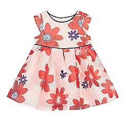 J by Jasper Conran - Baby girls' dark pink floral textured dress