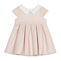 J by Jasper Conran - Baby girls' light pink spotted dress