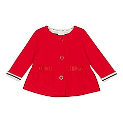 J by Jasper Conran - Baby girls' red button up sweater