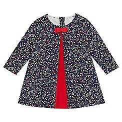 J by Jasper Conran - Baby girls' navy floral print dress