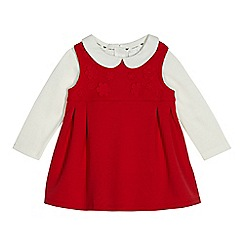 J by Jasper Conran - Baby girls' red pinafore set