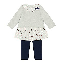 J by Jasper Conran - Baby girls' grey top and leggings set