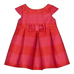 J by Jasper Conran - Baby girls' pink and red striped dress