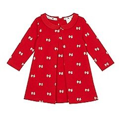 J by Jasper Conran - Babies red bow print dress