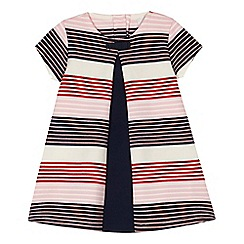 J by Jasper Conran - Baby girls' multi-coloured stripe print jersey dress