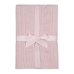 J by Jasper Conran - Baby girls' pink knitted blanket