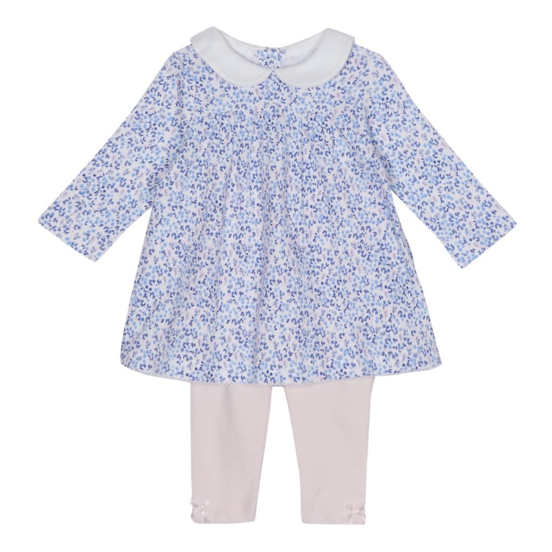 2e5ebd569b J by Jasper Conran - Baby Girls  Multi-Coloured Floral Print Dress And  Leggings Set - £4.80 - Bullring   Grand Central