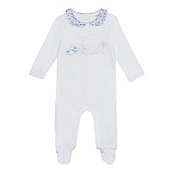 J by Jasper Conran - Baby girls' white bunny applique sleepsuit