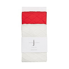 J by Jasper Conran - Baby girls' pack of two assorted pointelle tights