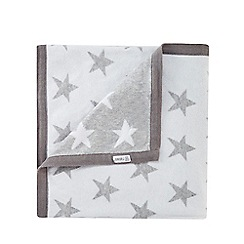 J by Jasper Conran - Babies white and grey star print blanket