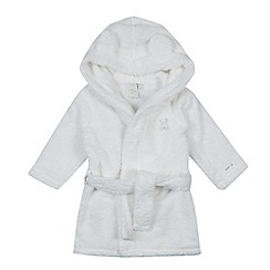 J by Jasper Conran - Babies white embroidered bear dressing gown