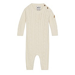 Mantaray - Babies cream cable knit romper suit