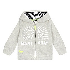 Mantaray - Babies grey zip through hoodie